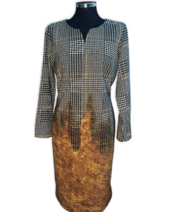 haljina-karo-smedja